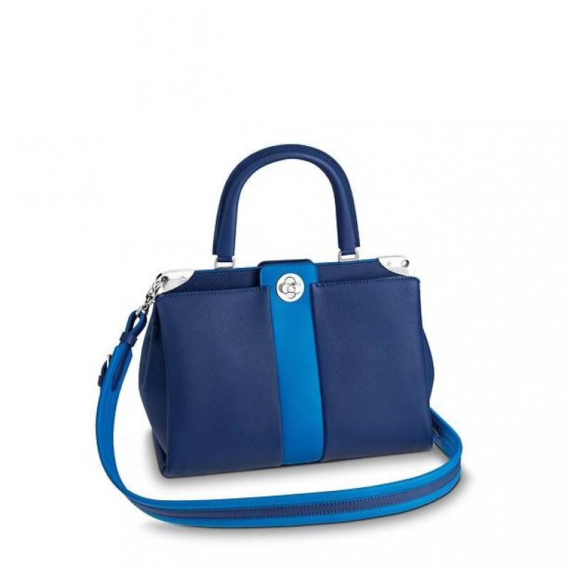 3d1a27286742 M54373 Louis Vuitton 2018 Premium Leather Astrid Handbag-Blue – eLuxury
